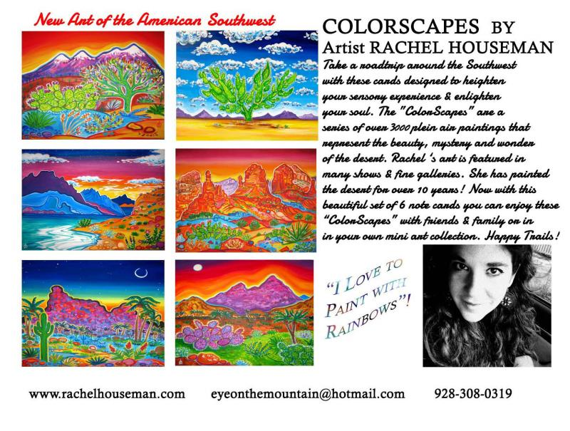 Rachel Houseman, Arizona, Cardset, Art Cards, Gift Cards, Arizona Gift Cards