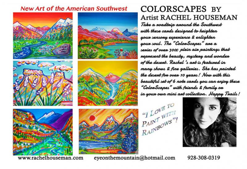 Rachel Houseman, Colorado Cardset, Colorful Art, ColorScapes, Santa Fe Art, Art