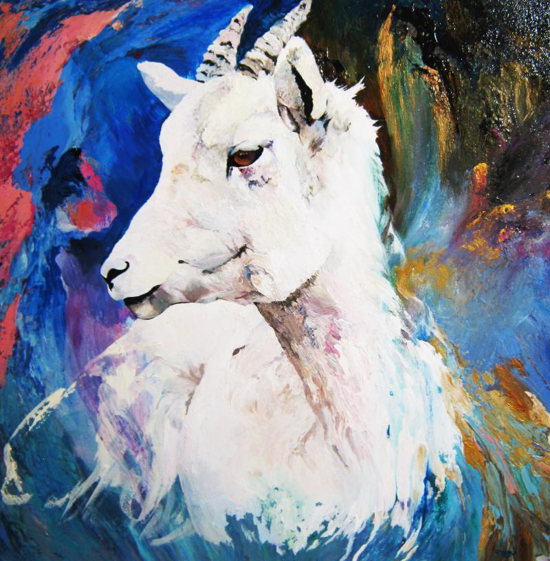 Kathryn Alexander, Artist, Eye on the Mountain Art Gallery, Goat, Art, Artist
