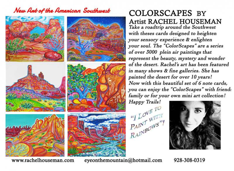 Rachel Houseman, Moab Cardset, Colorful Art, ColorScapes, Santa Fe Art, Art Card