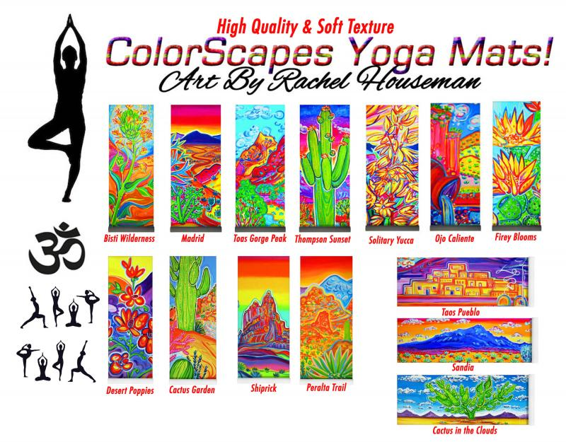Rachel Houseman, Designer Yoga Mats, Yoga Mats, ColorScapes, Santa Fe, Yoga Art